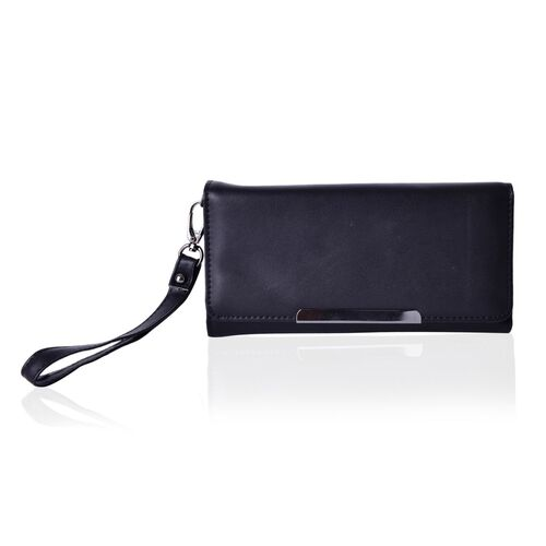 Roseberry Dazzling Black Clutch Bag / Travel Wallet (Size 19x10 Cm)
