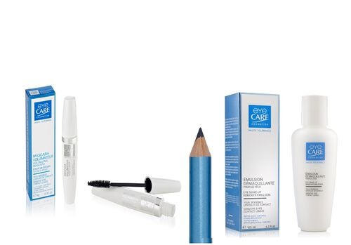 Butterflies Healthcare Mascara Blue Note- Eyecare volumising mascara blue note, pencil eyeliner blue with bonus travel eye makeup remover emulsion