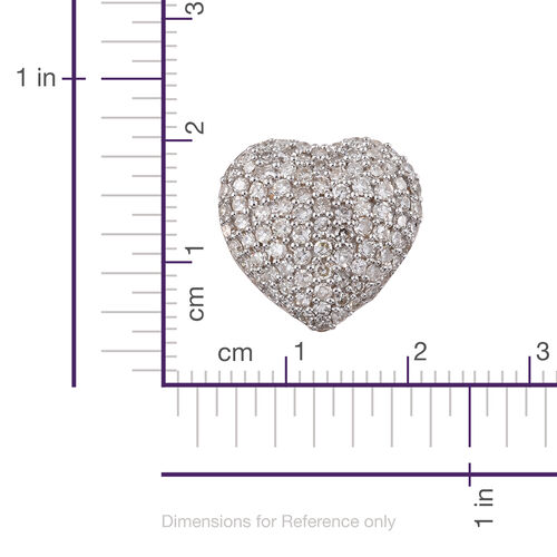 9K Yellow Gold SGL Certified Diamond (Rnd) (I2-I3/G-H) Heart Pendant 1.000 Ct.