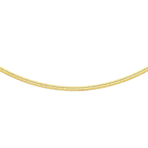 JCK Vegas Collection 9K Yellow Gold Square Snake Chain Size 20 Inch, 3.70 Gms.