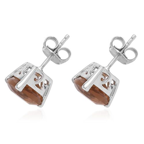 Alexite (Trl) Stud Earrings (with Push Back) in Platinum Overlay Sterling Silver 5.000 Ct.