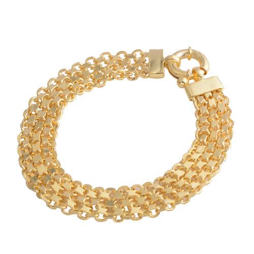 Gold Plating Sterling Silver Bismark Bracelet (Size 7.5). Silver wt. 9.70 Gms.
