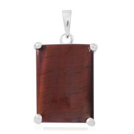 Red Tiger Eye (Bgt) Pendant in Sterling Silver 10.000 Ct.