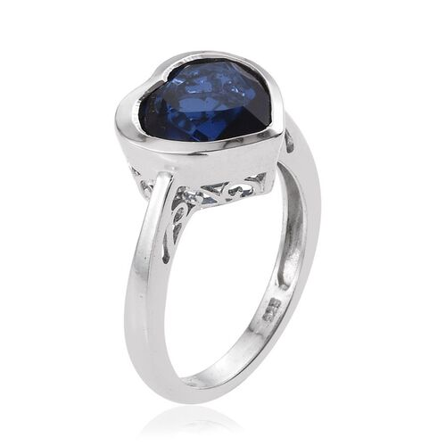Ceylon Colour Quartz (Hrt) Solitaire Ring in Platinum Overlay Sterling Silver 3.500 Ct.