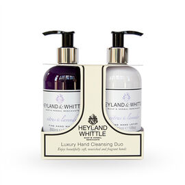 HEYLAND AND WHITTLE Citrus and Lavender Hand Wash and Hand Lotion Caddy with Foam Bath