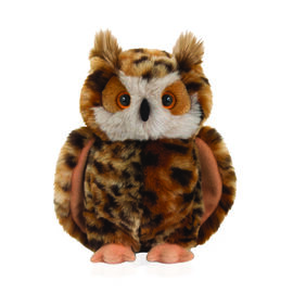 Keel Toys - Black and Brown Colour Owl (Size 18 Cm)