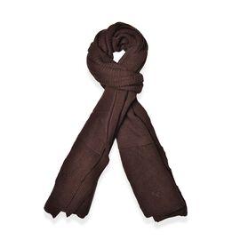 Dark Chocolate Colour Pull Through Scarf (Size 150x60 Cm)