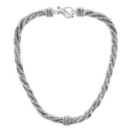 Royal Bali Collection Sterling Silver Necklace (Size 18), Silver wt. 112.00 Gms.