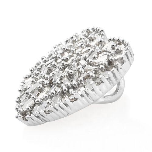 Designer Inspired Diamond (Bgt) Heart Pendant in Platinum Overlay Sterling Silver 0.500 Ct.