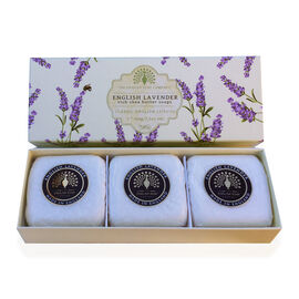 THE ENGLISH SOAP COMPANY- Classic Gift Boxed Soap 3 x 100g English Lavender- Estimated delivery within 5-7 working days