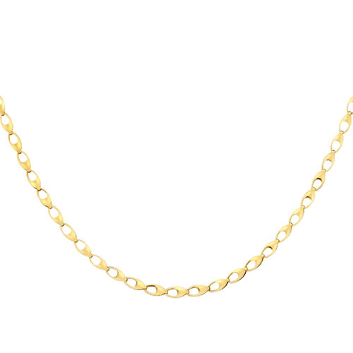 Limited Available - Close Out Deal Italian 9K Y Gold Coffee Bean Chain (Size 18), Gold Wt 6.00 Gms.
