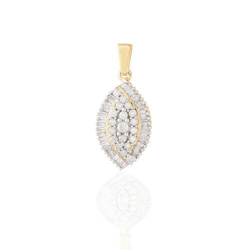 9K Y Gold SGL Certified Diamond (Rnd) (I3/G-H) Pendant 0.500 Ct.