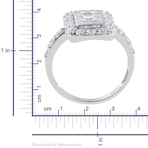 J Francis - 9K White Gold Ring Made with SWAROVSKI ZIRCONIA