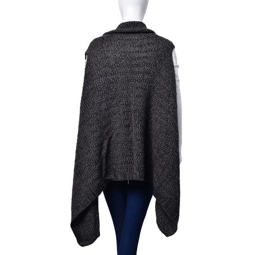 Black and Grey Colour Wrap (Free Size)