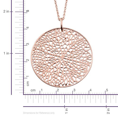 Rose Gold Overlay Sterling Silver Pendant With Chain, Silver wt 8.70 Gms.