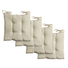 Set of 4 - 100% Luxury Cotton with Cotton Filling Chair Pads in Colour White (40x40 cm)