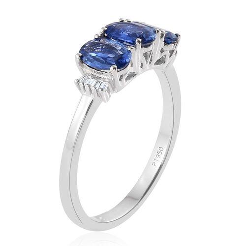 RHAPSODY 950 Platinum AAAA Ceylon Blue Sapphire (Ovl), Diamond (VS/E-F) Ring 2.250 Ct.