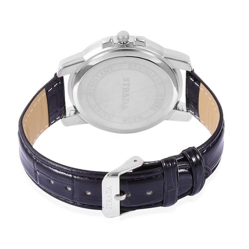 STRADA Japanese Movement Water Resistant Silver Tone Watch