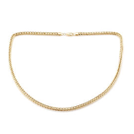 Royal Bali Collection 9K Yellow Gold Spiga Necklace (Size 22), Gold wt 11.55 Gms.