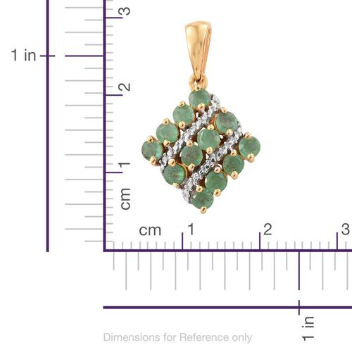 Brazilian Emerald (Rnd) Pendant in 14K Gold Overlay Sterling Silver 1.500 Ct.