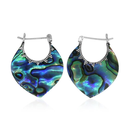 Royal Bali Collection Abalone Shell Earrings (with Clasp) in Sterling Silver 11.000 Ct.