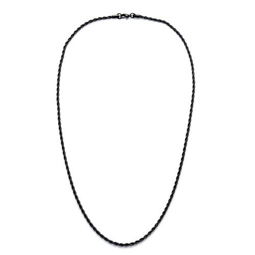 ION Plated Black Stainless Steel Necklace (Size 24)