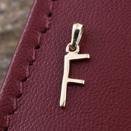 9K Yellow Gold Initial F Pendant