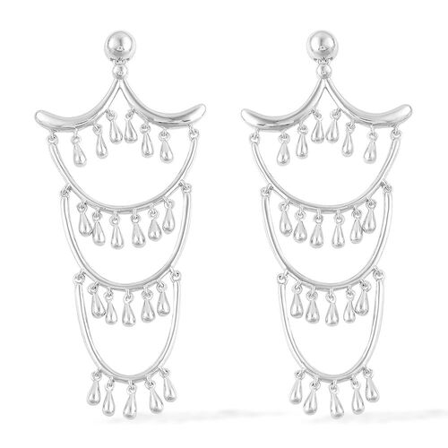 LucyQ Multi Drip Earrings in Rhodium Plated Sterling Silver 19.00 Gms.