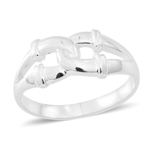 Sterling Silver Inter Lock Ring, Silver wt 3.80 Gms.