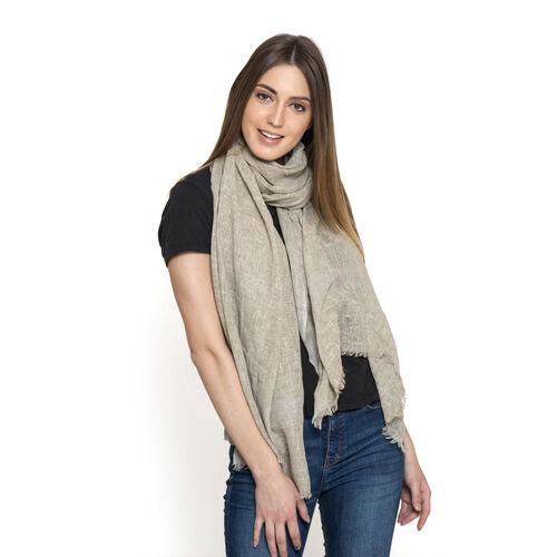Designer Inspired New for Season Beige Colour Scarf (Size 180x70 Cm)