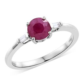 RHAPSODY 950 Platinum 1 Carat AAAA Burmese Ruby Ring with Diamond (VS/E-F)