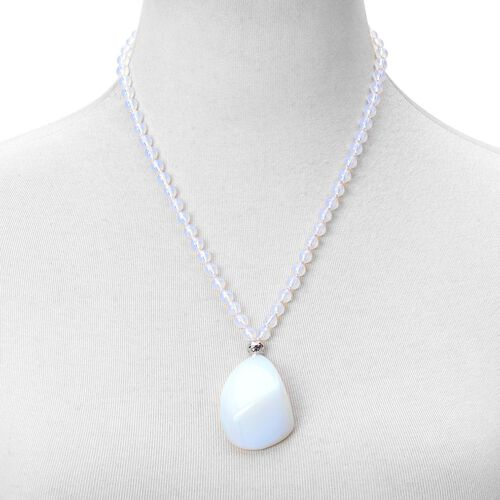 Super Auction - Opalite Necklace (Size 20 with 2 inch Extender) in Sterling Silver 248.500 Ct.