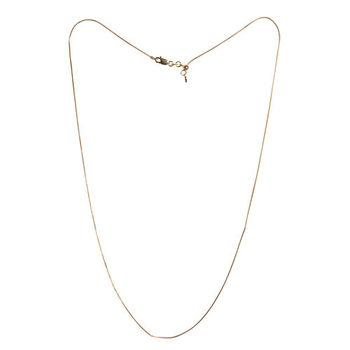 14K Gold Overlay Sterling Silver Adjustable Snake Chain (Size 24), Silver wt 3.60 Gms.