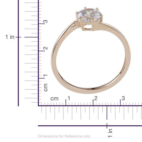 9K Y Gold (Rnd) Solitaire Ring Made With SWAROVSKI ZIRCONIA 1.280 Ct.