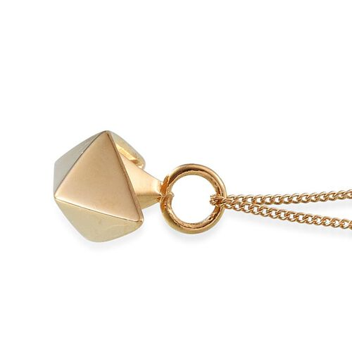 14K Gold Overlay Sterling Silver Origami Boat Pendant With Chain