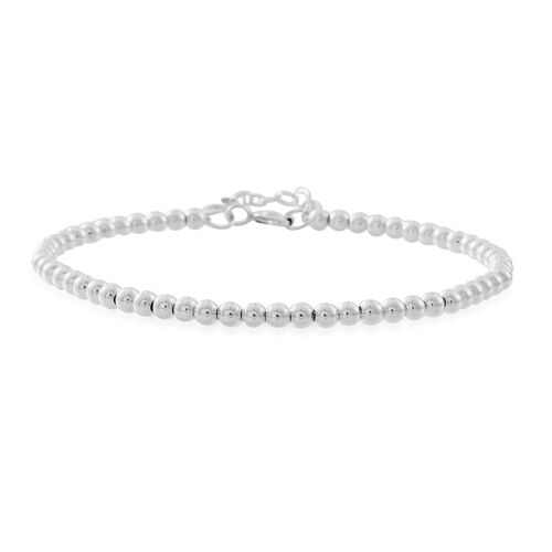 Thai Sterling Silver Beads Bracelet (Size 7 with 1 inch Extender), Silver wt. 3.60 Gms.