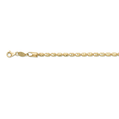 Italian Hand Made 14K Gold Overlay Sterling Silver Barrel Moon Chain (Size 30), Silver wt 17.40 Gms.