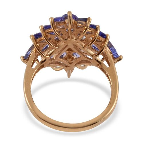 Tanzanite (Ovl) Ring in 14K Gold Overlay Sterling Silver 4.250 Ct.