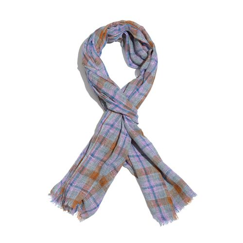 Designer Inspired New for Season Multi Colour Checks Pattern Scarf (Size 180x70 Cm)