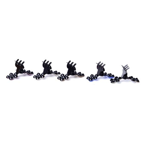 Set of 50 Floral Hairpins in Black Tone