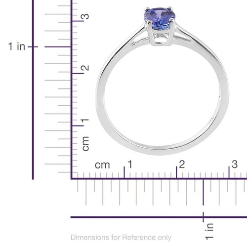 9K White Gold 0.75 Carat AA Tanzanite (Ovl) Solitaire Ring