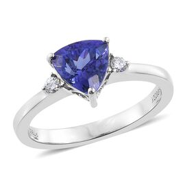 RHAPSODY 950 Platinum 1.25 Ct AAAA Tanzanite, Diamond (VS/E-F) Ring