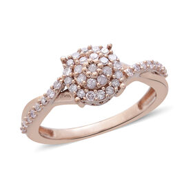 9K Rose Gold Natural Pink Diamond (Rnd) Ring 0.330 Ct.