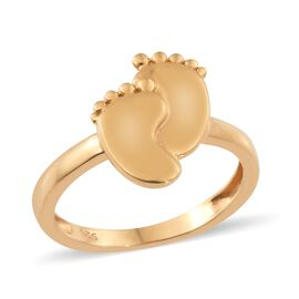 Baby Feet Ring in Gold Plated Silver