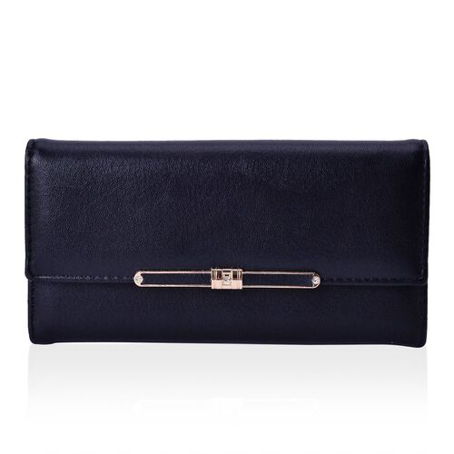 Set of 2 - Farfalla Classic Black Colour Wallet (Size 19x9x2.5 Cm and 10x9x2 Cm)