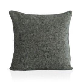 (Option 1) Tiles Pattern Grey Colour Cushion (Size 43x43 Cm)
