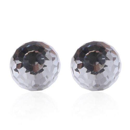 J Francis Crystal from Swarovski - White Crystal Stud Earrings (with Push Back) in 14K Gold Overlay Sterling Silver