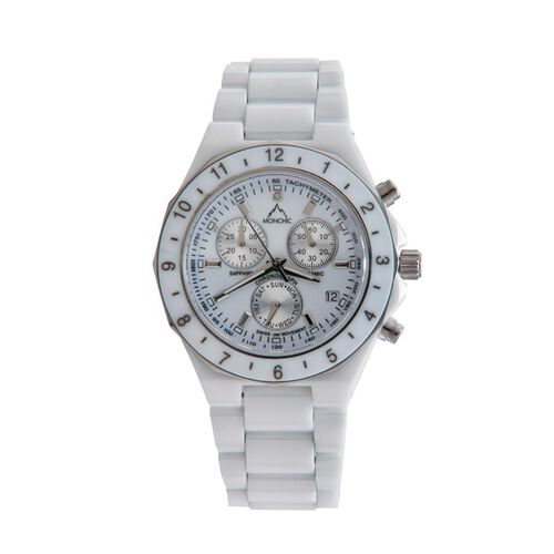 MONCHIC Diamond Dial Swiss Movement Gents Watch with Sapphire Crystal
