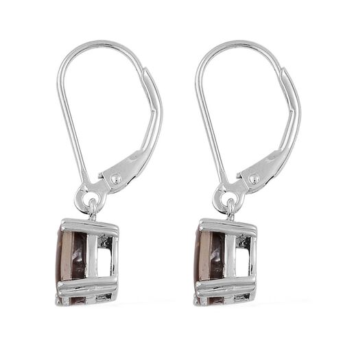 Canadian Ammolite (Ovl) Lever Back Earrings in Platinum Overlay Sterling Silver 2.250 Ct.