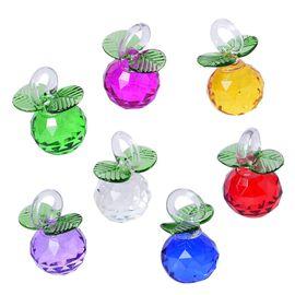 Set of 7 - Multi Colour Glass Decorations Set